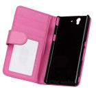 Protective Leather Case w/ Card Slot / Stylus / Stand for Sony Xperia Z / L36h / C6603