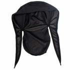 Qinglonglin Men's Stylish Quick-Drying Fabric Cycling Hat - Black