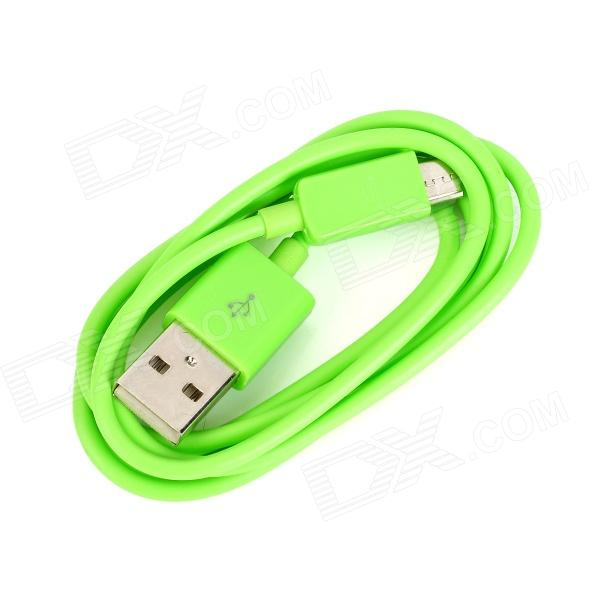 103B Micro USB to USB 2.0 Charging / Data Cable for Samsung / HTC / LG + More - Green (100cm) 103b universal usb to micro usb data charging cable for samsung htc more deep pink 100cm