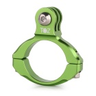 TOZ TZ27-GN Universal Aluminum Bicycle Mount Clip for Gopro Hero 4/ 2 / 3 / 3+ - Green