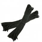 OUMILY Military Army Survival Parachute Rope - Black (30M / 140KG / 2 PCS)