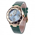 AODASI 4279L Stylish Women's Quartz Wrist Watch w/ Rhinestone Decoration -Green + Golden (1 x LR626)