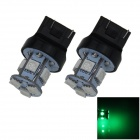 7443/7440 / T20 1W 100lm 8-SMD 5050 LED verde de coches de dirección / luces de freno / Tail - (12V / 2 PCS)