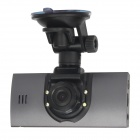 "SC01 2,7 ""TFT 3.0MP CMOS 1080P Dual-Optik-Auto-DVR Camcorder w / 4-LED-Licht / HDMI / GPS-Port - Schwarz"