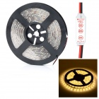 HML Waterproof 72W 14000lm 3300K 300-SMD 5630 LED Warm White Light Strip w/ Mini Controller (12V)
