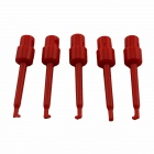 ABS Multimeter Test Hook Clip Grabbers for PCB / SMD / IC - Red (5 PCS)