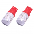 T10 5W 450lm 10-SMD 5630 LED Red Light Car Clearance / Signal Lamps (DC 12V / 2 PCS)