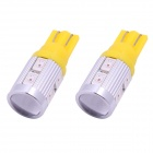 T10 5W 450lm 10-SMD 5630 LED Yellow Light Car Clearance / Signal Lamps (DC 12V / 2 PCS)