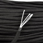 Outdoor Mountaineering Nylon 4-Core Parachute Cord - Black (100m)