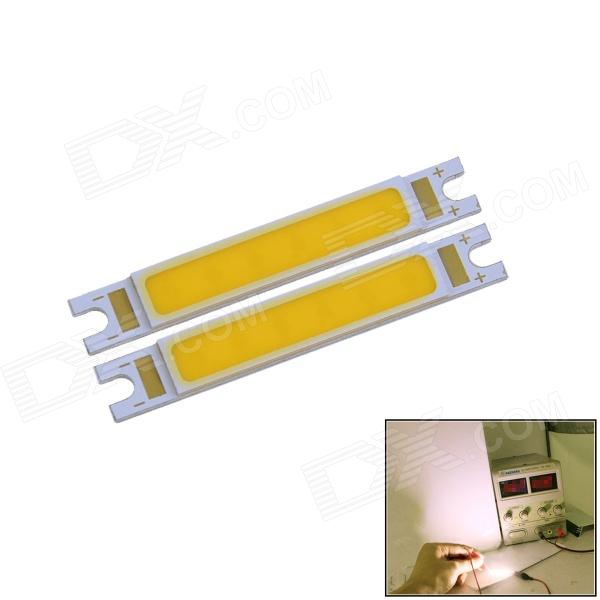 COB WaLangTing 3W 270lm 3000K LED chaudes Bars rectangle blanc lumineux - jaune (9 ~ 11V / 2 PCS)