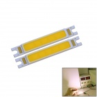 WaLangTing COB 3W 270lm 3000K LED Warm White Rectangle Light Bars - Yellow (9~11V / 2 PCS)