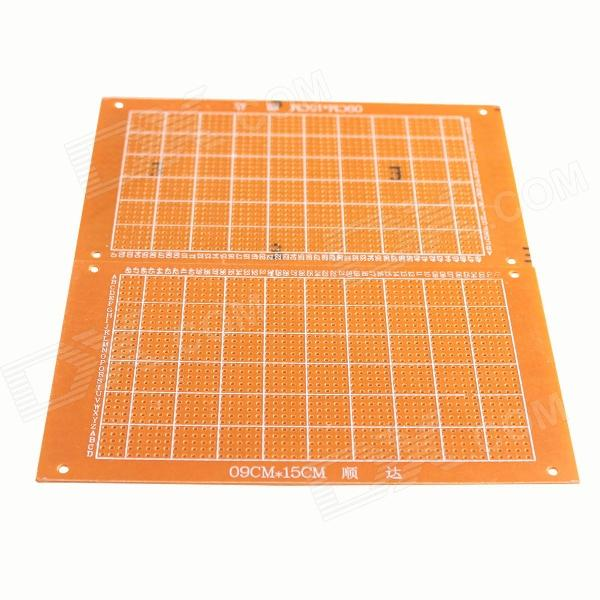 Shun Da 1.2mm 9 x 15cm Bakelite PCB Circuit Boards - Orange (2 PCS)  pcb79 1 2mm 7 x 9cm bakelite pcb circuit boards dark orange 5 pcs
