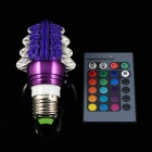 Christmas Tree Style E27 3W 6000mcd LED RGB Light w/ Remote Controller - Purple (85~265V)