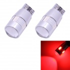 T10 3W 210lm 6-SMD 5630 LED Red Light Car Clearance Lamps w/ Lens (DC 12V / 2 PCS)