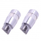 T10 3W 210lm 6-SMD 5630 LED Car Light Red Clearance Lâmpadas w / Lente (DC 12V / 2 PCS)