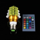 Christmas Tree Style E27 3W 6000mcd LED RGB Light w/ Remote Controller - Yellow (85~265V)