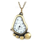 085 Retro Little Foot Style Quartz Pocket Watch - Bronze (1 x 377)