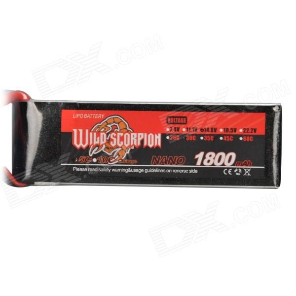 14.8V 1800mAh 30C Replacement Li-Poly Battery for RC Helicopter / Car / Boat + More - Black + Red in stock alzrc devil 505 fast rc helicopter standard combo high quality rc models