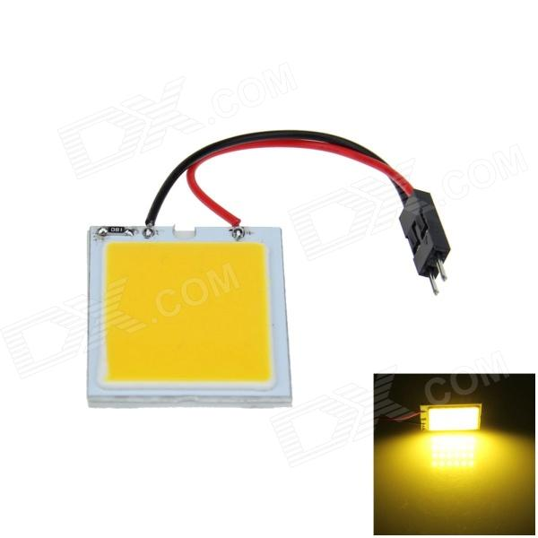 T10 / BA9S / Festoon 31mm~42mm 2W 150lm 24-COB LED Yellow Car Interior Dome Light (12V) 2pcs pair cob led chips c5w canbus 31mm 36mm 39mm 42mm 44mm car styling interior festoon dome reading 12v dc white