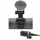 "SL01 H.264 2.7"" TFT CMOS Dual-Camera Wide Angle Car DVR w/ G-Sensor / 4-LED / HDMI - Black"