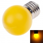 D400001 BR Elite E27 1W 90lm 590nm 4-LED Yellow Light Lamp Bulb - Yellow (AC 220~250V)