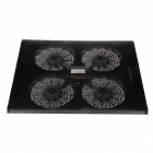 "Shunzhan USB 2.0 Cooling Pad 4-Fan Cooler for 9""~17"" Notebook / Laptop - Black"
