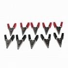 ESXC01 Plastic + Aluminum Withstand Voltage Test Clips - Black + Red (10 PCS)