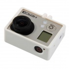PANNOVO G-207 Professional Bacpac Portable Plastic Fixed Frame Case for Gopro Hero 4/ 3 - White