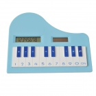 "DEDO MG-128 1.5"" LCD Piano Shape Solar Power 8-Digit Calculator - Blue"