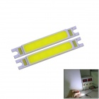 WaLangTing 3W 270lm 6500K COB LED White Rectangle Light Bar - Yellow (9~11V / 2 PCS)