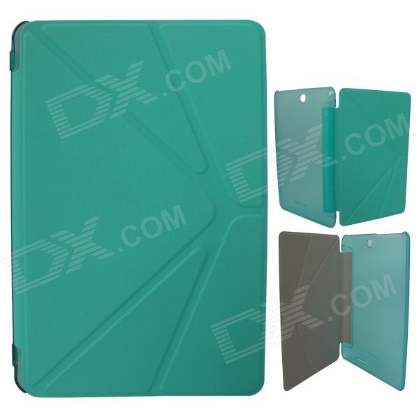 Protective PU Leather Case Cover Stand for Colorfly Transforming Momo1 Q708 Q1 /  Q708 Q2 - Green