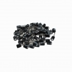 DJDR2 Aluminum Electrolytic Capacitor for DIY Project - Black (100 PCS)