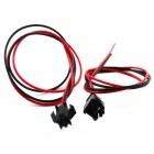 SM-2P Connection Cable - Black + Red (Pair / 30cm)