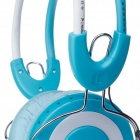 KEENION KDM-803B Stereo Headphones w/ Microphone - Blue + White (210cm-Cable / 3.5mm Plug)