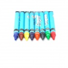 8-in-1 Colorful Crayon Pens Set - Royal Blue + Red