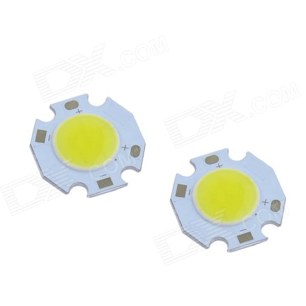 WaLangTing COB 3W 270lm 6500K LED White Round Light Source (9~11V / 2 PCS)
