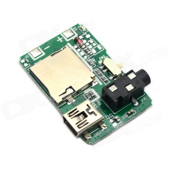 Jtron 20050299 MP3 Decoder Board w/ TF / USB - Green ipc board pia 662 sent to the cpu memory used disassemble