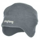 Qingfang B11139 Autumn Winter Warm Polar Fleece Hat for Men - Grey