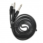 3.5mm Jack Male to Dual 6.35mm Jack Male PC to Sound Console Shielded Guitar Audio Cable - Black