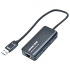 UGREEN 20266 USB Wired Network Adapter w/ 3 Ports USB 3.0 Hub - Black