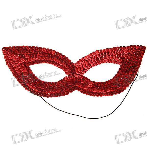 Halloween Shining Red Eye Mask (Assorted Color)