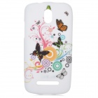 YI-YI Butterfly Pattern Protective TPU Case for HTC Desire 500