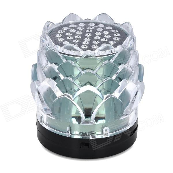 JHW-238 Lotus Seed Style Portable Media Player Speaker w/ TF / FM - Black + Transparent