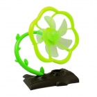 Estilo Plum Blossom Tree 2-Mode 5-Blade ventilador USB - Brown + Verde