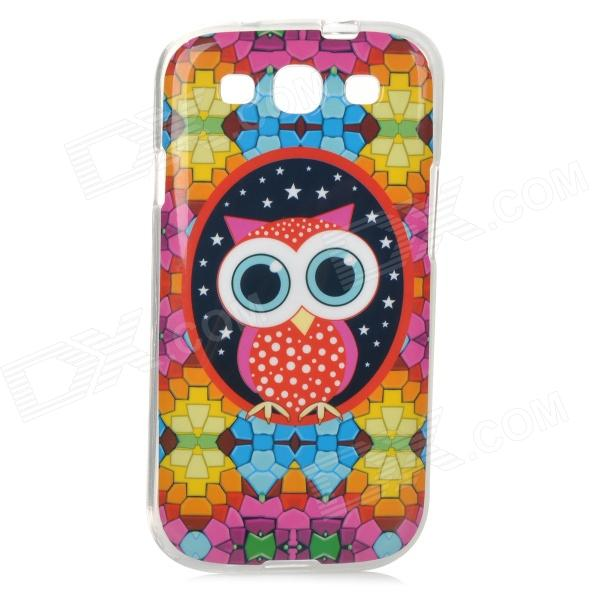 Owl Pattern Protective TPU Case for Samsung i9300 - DXTPU Cases<br>Color Red + Multicolored Brand N/A Model N/A Material TPU Quantity 1 Piece Shade Of Color Multi-color Compatible Models Samsung i9300 Packing List 1 x Case<br>
