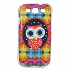 Owl Pattern Protective TPU Case for Samsung i9300