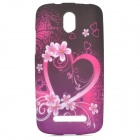 YI-YI Protective TPU Case for HTC Desire 500 - Black + Pink