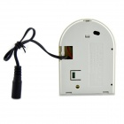 Wireless 433MHz Glass Broken Detector w/ EU Plug Power Adapter for Alarm System - White