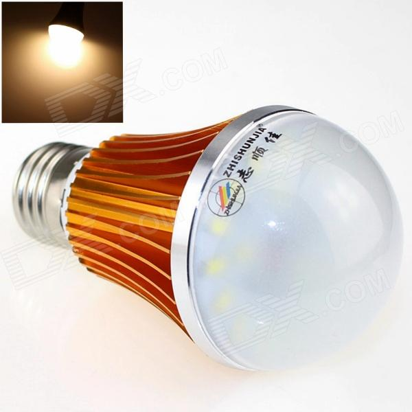 ZHISHUNJIA E27 7W 520lm 3000K 14-SMD 5630 LED Warm White Light Bulb - White + Golden (85~265V) катушка lucky john anira spin 7 3000 fd