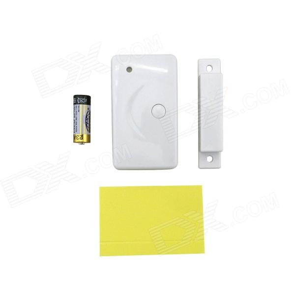 433MHz Door / Window Sensor w/ Panic Alarm Button for Alarm System - White
